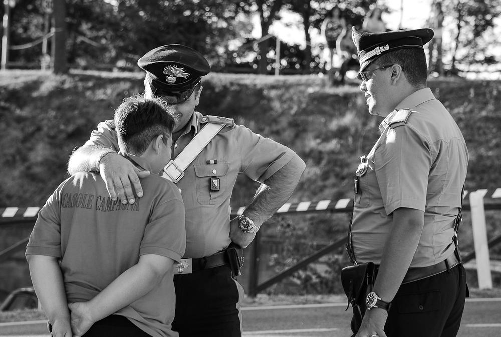 «La polizia tuo amico», Palio Casole d'Este, Italia (Heinz Homatsch)