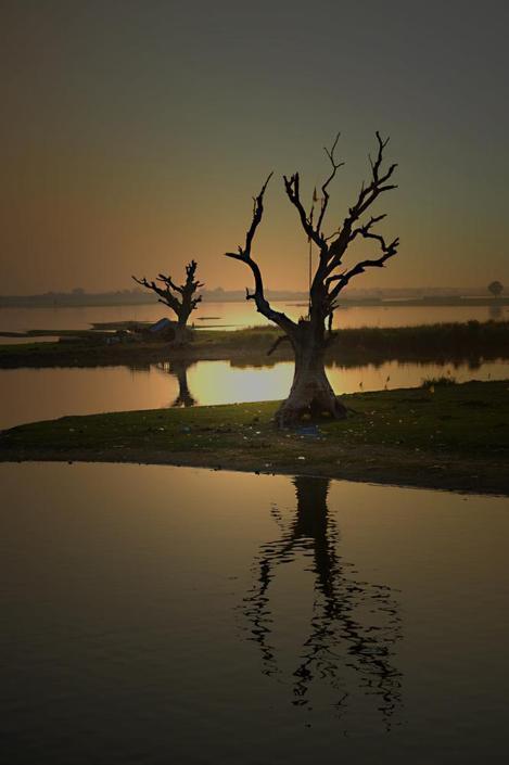 «Tramonto a Mandalay», Myanmar (Heinz Homatsch)