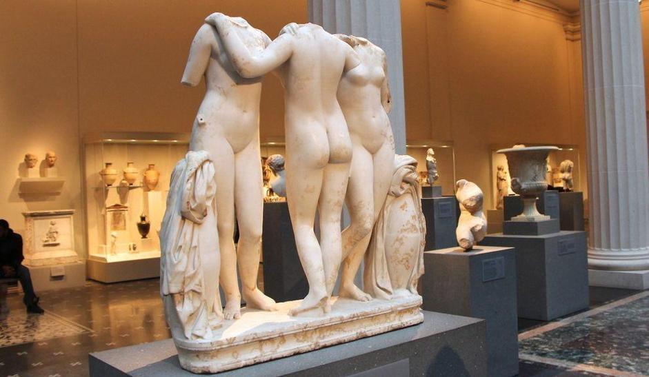 Le Tre grazie, marmo romano II secolo d. C.