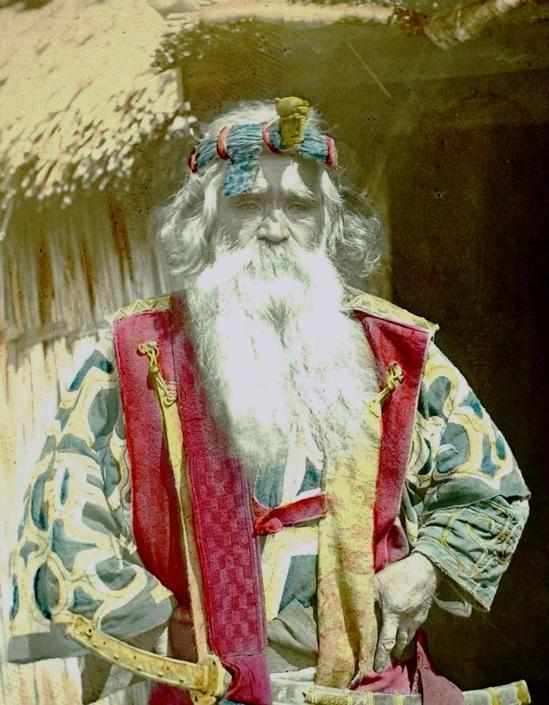 Ritratto di vecchio con sciabola, collezione ?Bandini?, India, 1903, foto di anonimo