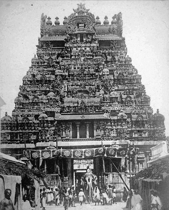 Tempio di Meenakshi-Sundareswarar, collezione ?Bandini?, Madurai, Tamil Nadu, India, 1903