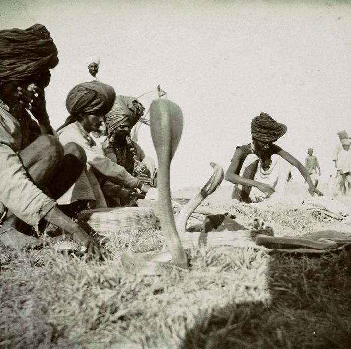 Incantatori di serpenti, collezione ?Piscicelli?, Benares, Uttar Pradesh, India, 1913-1914, foto di Maurizio Piscicelli