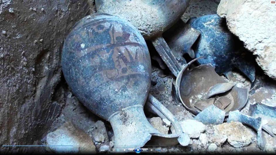 Vasellame trovato nella tomba