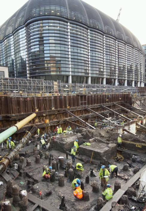 Gli scavi in corso a Londra che hanno rivelato gli antichi resti di Londinium (Museum of London Archaeology)