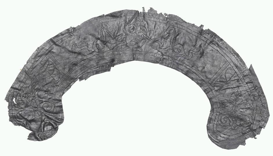 Una striscia di pelle con incise scene di lotte tra gladiatori (Museum of London Archaeology)