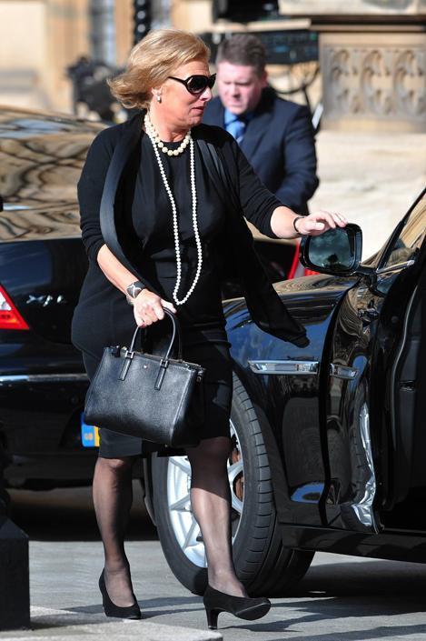 Anche Carol Thatcher si � recata alla cerimonia (Afp/Court)