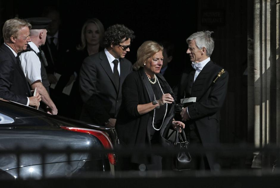 Mark, primo a sinistra, e Carol Thatcher, seconda da destra (Reuters/Plunkett)