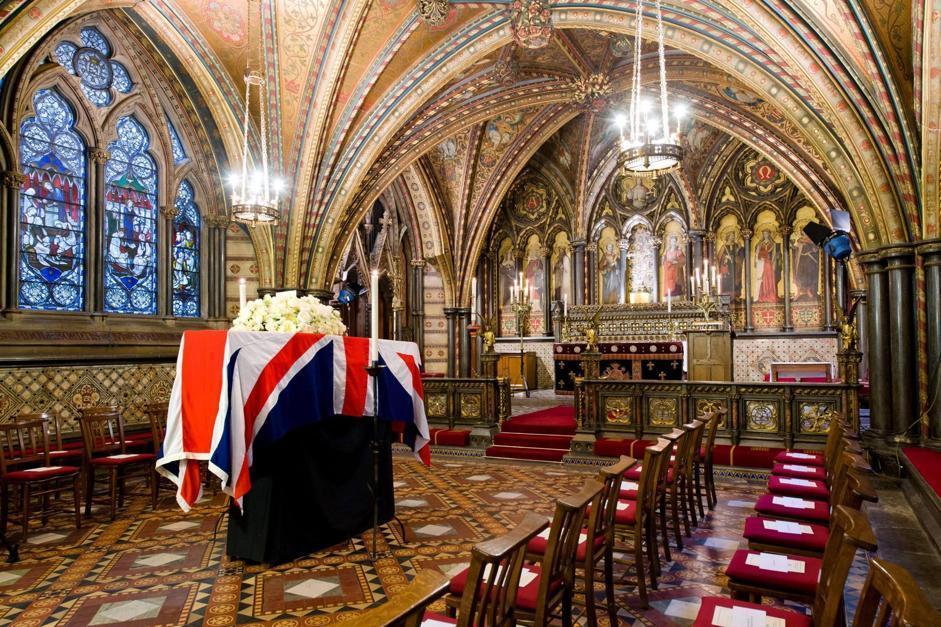 Durante la processione dalla Torre di Londra verranno sparati colpi d'artiglieria a salve in memoria dell'ex premier (Epa/Neal)