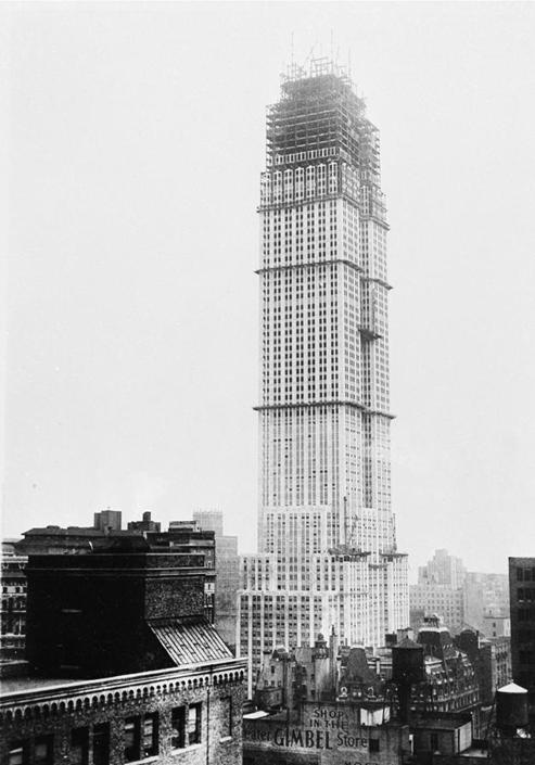 Un'immagine dell'Empire State Building durante la fase di costruzione: la foto è stata scattata il 19 settembre 1930(Ap)