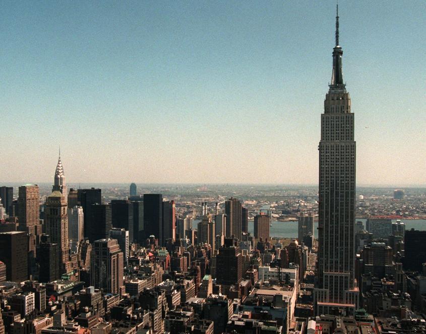 L'Empire State Building visto dal Rockefeller Center (Reuters)