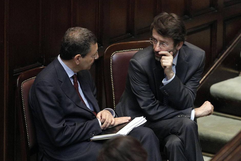 I democratici Marino e Franceschini (Ansa)
