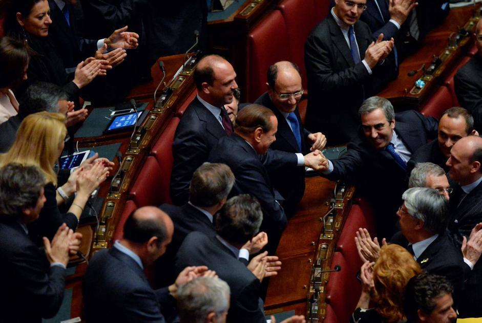 Giorgio Napolitano è stato rieletto: si applaude tra i banchi del Pdl (Imagoeconomica)