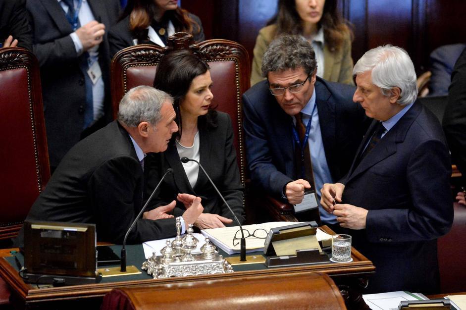 I presidenti delle camere Grasso e Boldrini (Imagoeconomica)