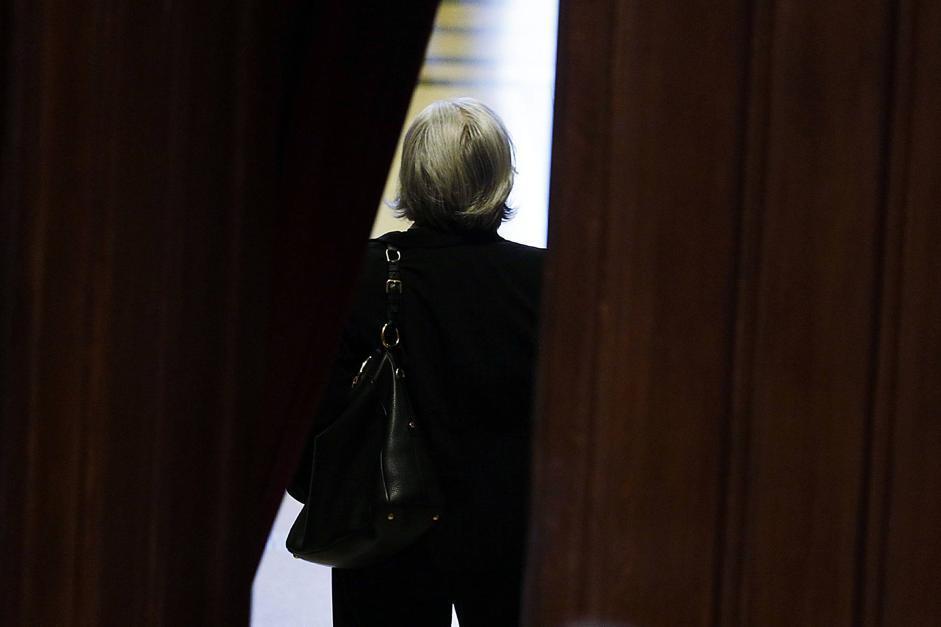 Rosy Bindi alla Camera per il voto (Riccardo Antimiani/Eidon)