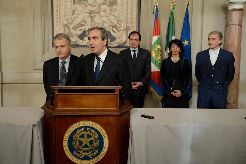 Fabrizio Cicchitto e Maurizio Gasparri del Pdl (ImagoEconomica/Scudieri)