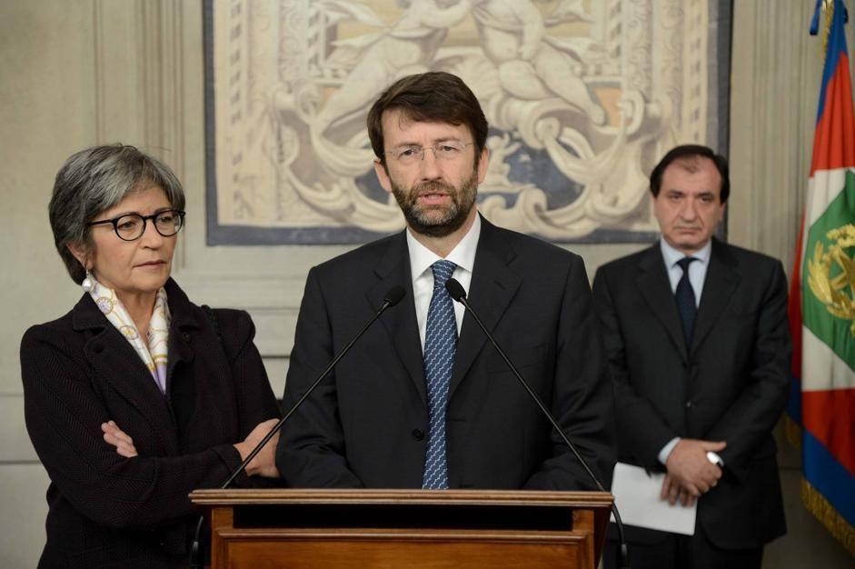 Anna Finocchiaro e Dario Franceschini del Pd (ImagoEconomica/Scudieri)