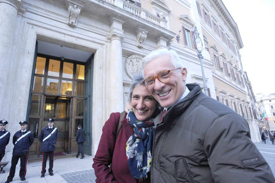 Paolo Corsini e Paola Concia a Montecitorio (Stefano Cavicchi)