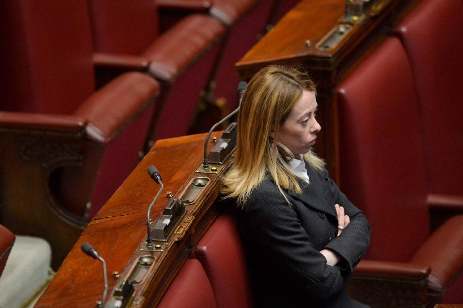 Giorgia Meloni. Nella diretta del primo giorno del Parlamento,