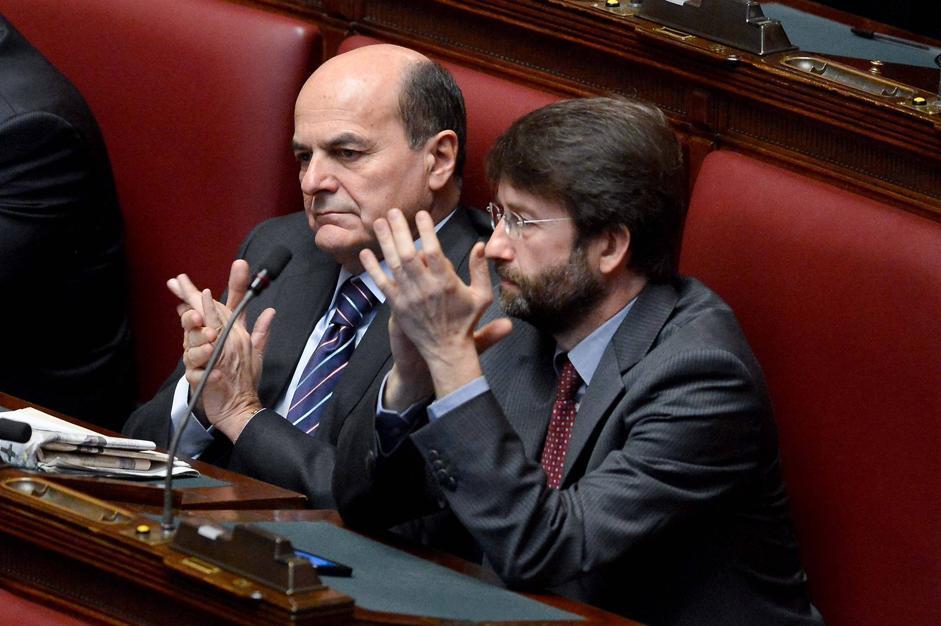 Pierluigi Bersani e Dario Franceschini (Daniele Scudieri/Imagoeonomica)