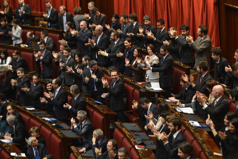 Prima seduta del parlamento for Diretta dalla camera dei deputati