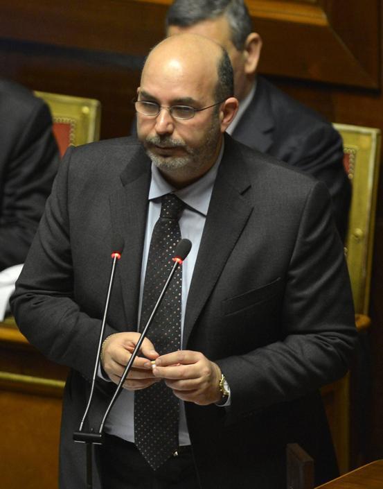 Vito Crimi, neoeletto senatore (M5S) (Alberto Lingria/Afp)