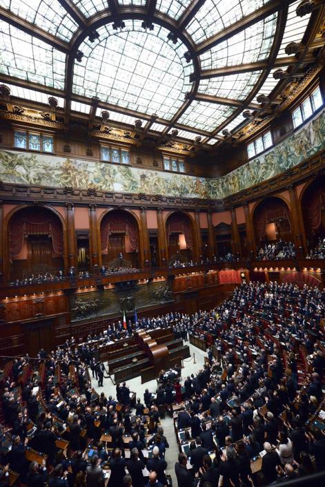 Una panoramica dell aula della Camera dei Deputati (Claudio Onorati/Ansa)