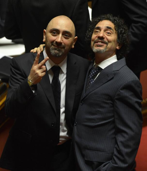Stefano Lucidi e Andrea Cioffi (Alberto Lingria/Afp)