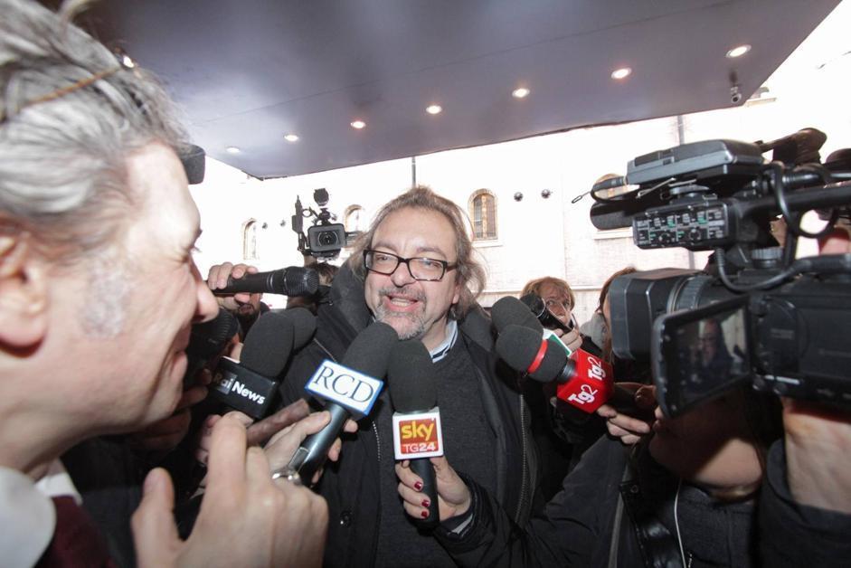 L'arrivo degli eletti M5S. Nella foto Mario Michele Giarrusso. Eletto al Senato, era candidato in Sicilia    (Benvegnù - Guaitoli)