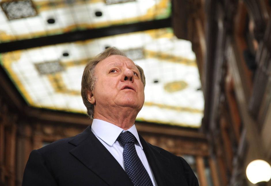 Altero Matteoli, Pdl, già ex ministro dell'Ambiente (2006) e dei Trasporti (fino al 2011) , presiede la commissione Lavori pubblici e Telecomunicazioni (Imagoeconomica/Stefanini)