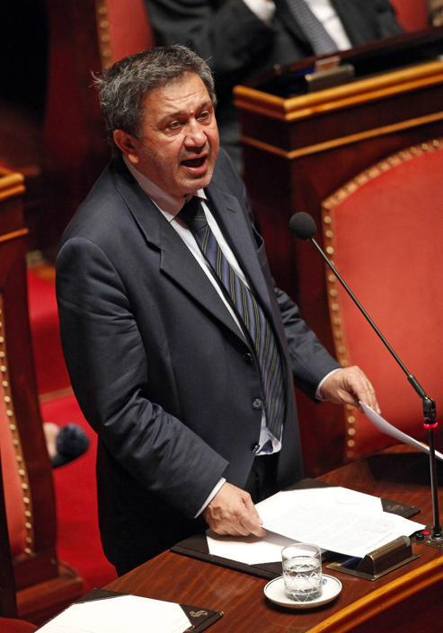 Il senatore Antonio Azzollini, Pdl, avvocato, presiede la commissione Bilancio di Palazzo Madama (riconfermato nell'incarico) (Ansa/Di Meo)