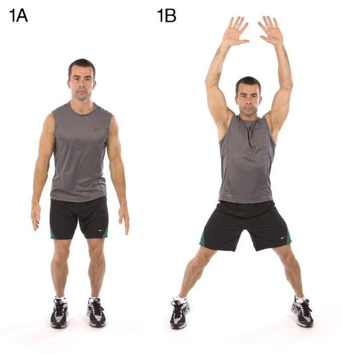 Salti a gambe divaricate (jumping jack)