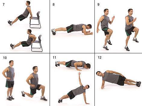 La sequenza dall'esercizio 7 al 12