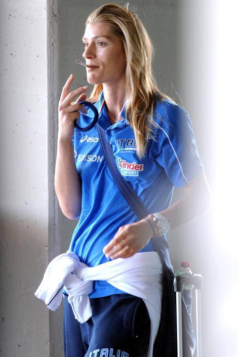 Francesca Piccinini, atleta fumatrice (Olycom)