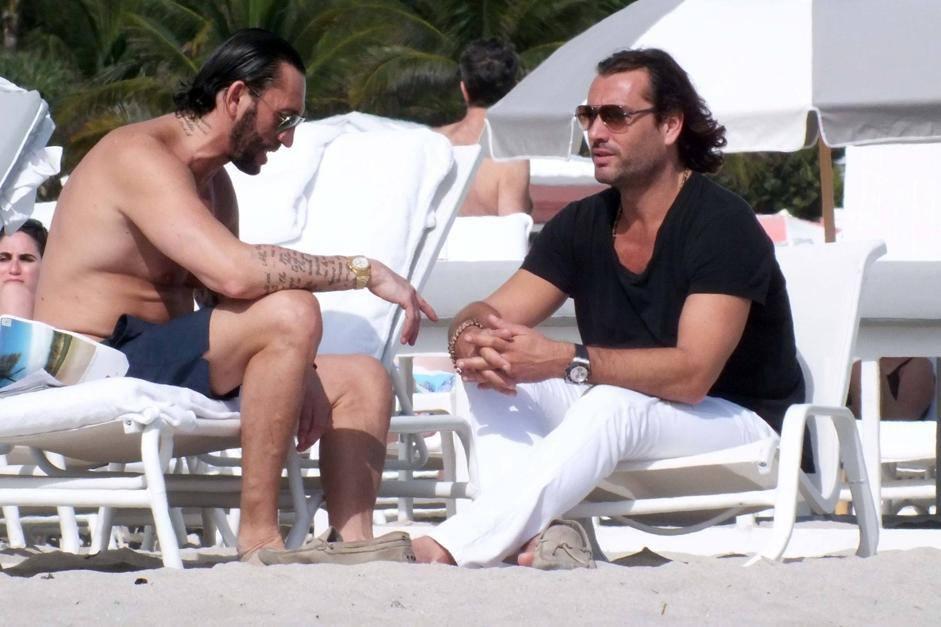 Rossano Rubicondi sulla spiaggia a Miami