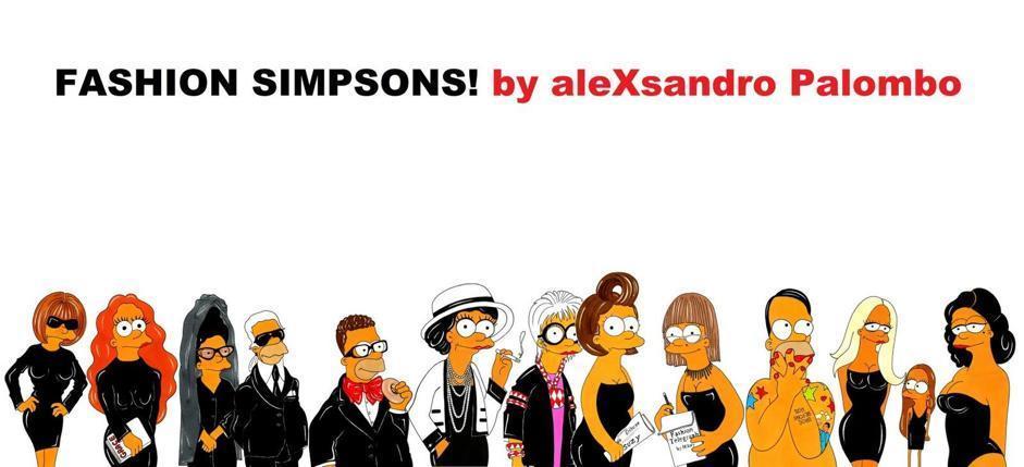 I più grandi stilisti rivisitati in versione Simpson dall'artista Alexsandro Palombo