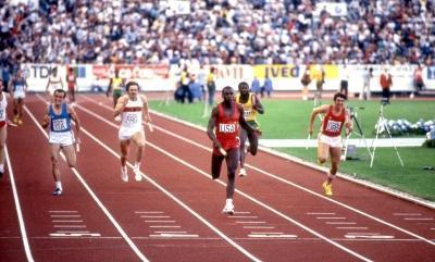 La staffetta 4x100 italiana ai Mondiali di Helsinki 1983 (Olycom)