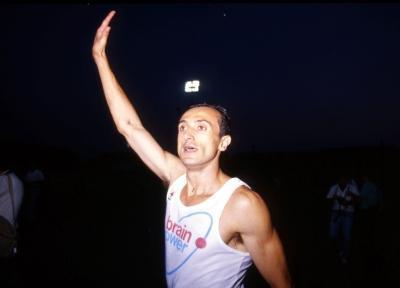 1987, Mennea tenta il rientro alle gare in vista delle successive Olimpiadi. Qui è a Grosseto (Olycom)
