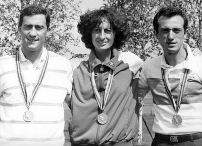 A Mosca con Maurizio Damilano, Sara Simeoni e le medaglie (Olycom)