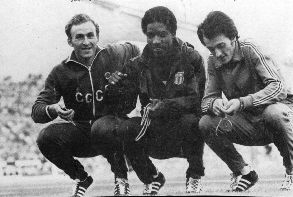 Borzov, Black e Mennea (Ap)