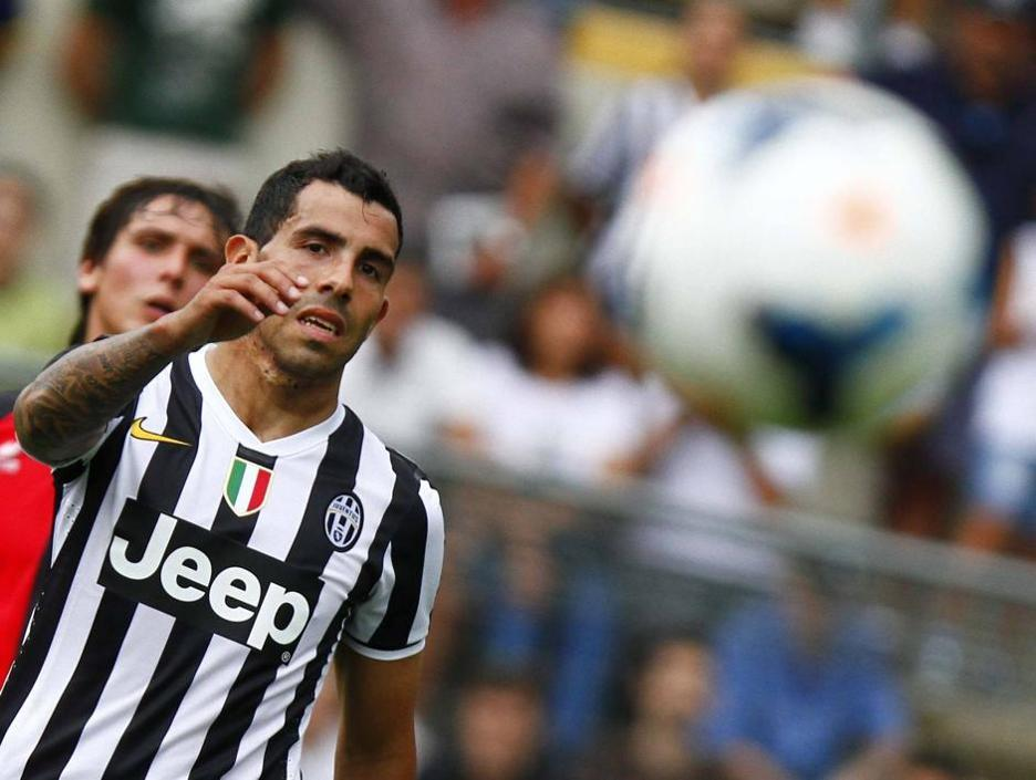 Liga Italia  - Carlos Tevez Cetak Gol Pertama di Juventus
