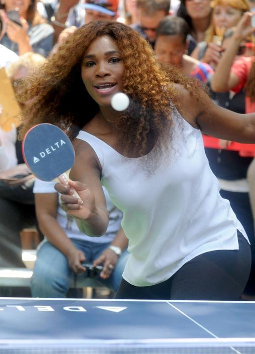 Serena dal tennis al ping pong for Open table 99 park