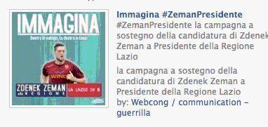 Immagina #Zeman presidente. Non poteva mancare il partito calcistico. Per la regione Lazio