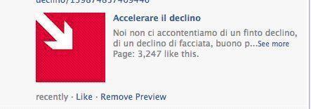 Accelerare il declino. Lo slogan? «Dobbiamo accelerare il declino italiano. La crisi finanziaria costituisce un'eccellente occasione per riuscirci»
