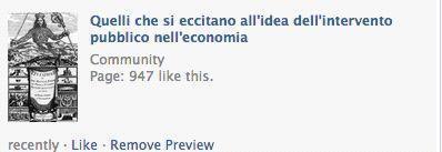 E ci sono pure «Quelli che si eccitano all'idea dell'intervento pubblico nell'economia»