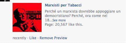 Marxisti per Tabacci. Dicono: «Un pagina di marxisti che sostengono il compagno Bruno Tabacci nella realizzazione del Socialismo in Italia e nel mondo»