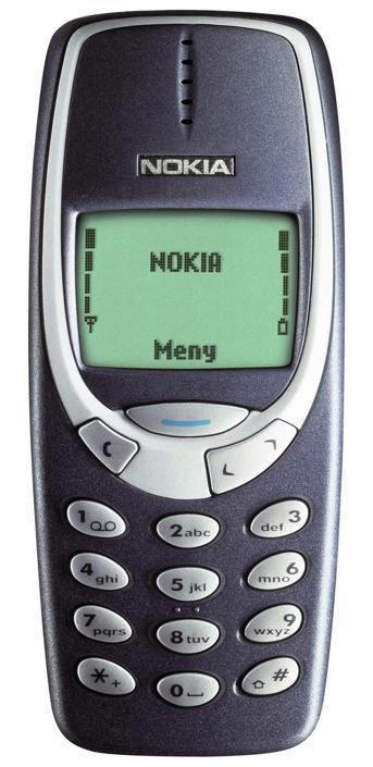 2000 - nokia 3310 - ha venduto circa 130 milioni di pezzi in tutto il