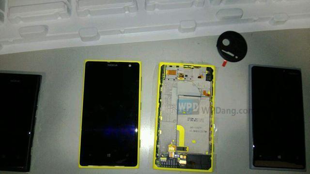 La presunta scocca fronte e retro del Nokia Lumia Eos, il più performante tra i camera phone in arrivo questa estate (credits: WpDang)