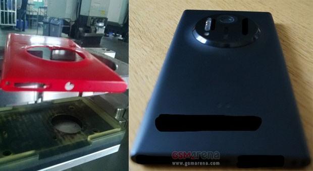 Scocca dell'Eos e modello assemblato, secondo il leaks di GSM Arena (credits: GSMArena)