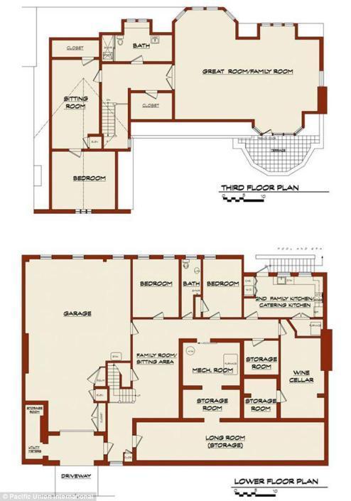 La villa da 35 milioni di marissa for Piano casa casa di sciopero seminterrato