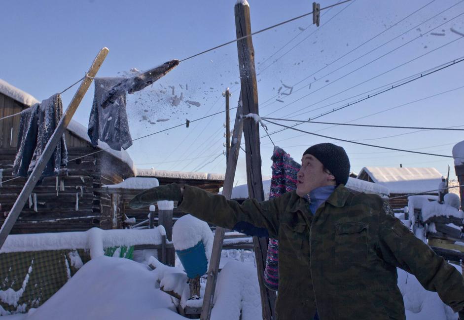 Il villaggio di Oymyakon, dove � stata registrata la temperatura pi� bassa dell'emisfero nord (Reuters/Maxim Shemetov)